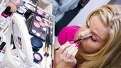 Megan Hilty backstage – eye makeup