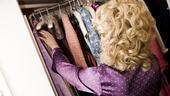 Megan Hilty backstage – closet