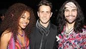 Speaking of Sasha Allen, here she is, along with Joey McIntyre and Hair castmate Steel Burkhardt.