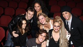 Diego Boneta hits the seats of the Helen Hayes Theatre with Rockers Ericka Hunter, Tony LePage, Jennifer Rias, Rebecca Faulkenberry, Michele Mais and Dan Domenech.