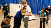 In Rehearsal with Jesus Christ Superstar  Mark Cassius  Katrina Reynolds - Mary Antonini - Paul Nolan - Karen Burthwright - Lee Siegel