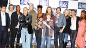 Lyricist Glenn Slater, co-librettist Warren Leight, Leslie Odom Jr., composer Alan Menken, director Christopher Ashley, Kecia Lewis-Evans, Talon Ackerman, Jessica Phillips, Raúl Esparza, Kendra Kassebaum, choreographer Sergio Trujillo and Krystal Joy Brown greet the press.