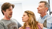 Peter and the Starcatcher Rehearsal  Christian Borle  Rick Holmes  Celia Keenan-Bolger  Arnie Burton 