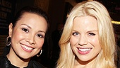 Broadway vet Lea Salonga looks gorgeous with Megan Hilty, who is happy to be at the St. James Theatre supporting her Smash co-star Leslie Odom Jr.