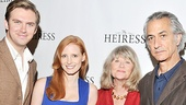 The Heiress stars Dan Stevens, Jessica Chastain, Judith Ivey and David Strathairn take a picture-perfect family photo.