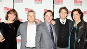 Scribe Rebecca Lenkiewicz, director Doug Hughes, stars Richard Thomas and Boyd Gaines and MTC Artistic Director Lynne Meadow have brought An Enemy of the People  to life at the Samuel J. Friedman Theatre. 