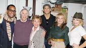 A parting shot of Daniel Breaker, Henry Winkler, Judith Sheindlin, Cheyenne Jackson, Barbara Walters and Ari Graynor. See The Performers, opening on November 14!