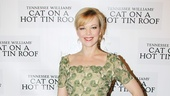 Hey, Sister Mae! Emily Bergl strikes a pose on opening night of Cat on a Hot Tin Roof.