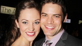 Cinderella winner Laura Osnes is beaming with her former Bonnie &amp; Clyde co-star (and two-time previous winner) Jeremy Jordan.