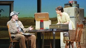 Hunter Foster as Bud Johnson & Kelli O'Hara as Francesca Johnson in The Bridges of Madison County