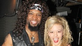 Ahman Green hangs out with Rock of Ages star Kate Rockwell.