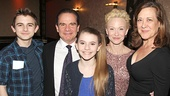 Headliner Peter Scolari hangs out with his kids Keaton and Cali, wife Tracy Shayne and actress Karen Ziemba—Shayne and Ziemba starred in A Chorus Line on Broadway together.