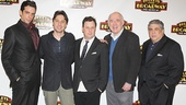 Bullets Over Broadway co-stars Nick Cordero, Zach Braff, Brooks Ashmanskas, Lenny Wolpe and Vincent Pastore meet the press.