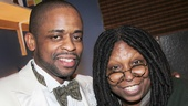 Dule Hill and Whoopi Goldberg hang out backstage.