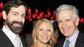 Kelli O'Hara is surrounded by love! Her husband Greg Naughton and father-in-law James Naughton are on hand to celebrate.