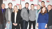 Casa Valentina playwright Harvey Fierstein and cast members Larry Pine, Lisa Emery, Reed Birney, Patrick Page, Nick Westrate, John Cullum, Gabriel Ebert, Mare Winningham andTom McGowan pose for a family shot. See the play at MTC's Friedman Theatre beginning on April 1.