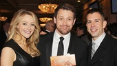 Bullets Over Broadway babe Betsy Wolfe, actor Michael Arden and playwright Stephen Karam have their tickets!