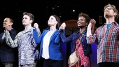 If/Then stars Jerry Dixon, James Snyder, Idina Menzel, LaChanze and Anthony Rapp take a bow.