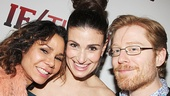 Rent reunion! Original cast members Daphne Rubin-Vega, Idina Menzel and Anthony Rapp catch up on the red carpet.