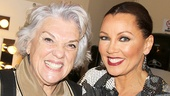 Mothers and Sons star Tyne Daly stops by to congratulate Vanessa Williams in her dressing room!