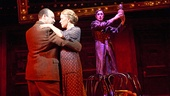 Danny Burstein as Herr Schultz, Linda Emond as Fraulein Schneider and Alan Cumming as Emcee in Cabaret