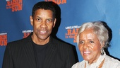 Raisin star Denzel Washington takes a photo with the late playwright Lorraine Hansberry's sister, Mamie Hansberry.