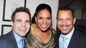 Lady Day star Audra McDonald with Mario Cantone and If/Then's Jerry Dixon.