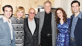 The Late Show with David Letterman bandleader Paul Shaffer and Bill Medley of the Righteous Brothers (c.) with Jarrod Spector (Barry Mann), Anika Larsen (Cynthia Weil), Jessie Mueller and Jake Epstein (Gerry Goffin).