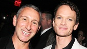 Director Adam Shankman hangs out with Neil Patrick Harris at the party.