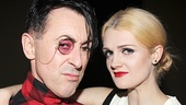Cabaret stars Alan Cumming and Gayle Rankin get silly after the show.