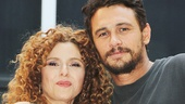 Broadway Barks founder Bernadette Peters with Of Mice and Men star James Franco.