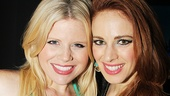 Piece of My Heart star (and former Elphaba) Teal Wicks poses with another Wicked alum, Megan Hilty.