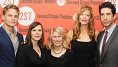 Sex with Strangers' Billy Magnussen, Laura Eason, Anna Gunn and David Schwimmer rally around Second Stage Theatre artistic director Carole Rothman.