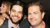 Broadway.com's Paul Wontorek (right) with Jeremy Jordan, a two-time guest on his talk show Show People.