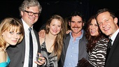 Celia Keenan-Bolger and husband John Ellison Conlee, The Columnist's Grace Gummer, Tony Award winner Billy Crudup and Smash stars Debra Messing and Will Chase stop dancing long enough to take this group shot at the McKittrick Hotel.