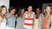 Vanessa Williams Visits Bring It On  Elle McLemore  Ariana DeBose - Adrienne Warren - Vanessa Williams  Gregory Haney  Kate Rockwell