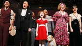 "The cast sings a reprise of Annie's signature song, ""Tomorrow."""