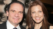 Bronx Bombers headliner Peter Scolari strikes a pose with Law & Order: SVU star and Broadway alum Jessica Phillips.