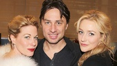 Bullets Over Broadway favorites Marin Mazzie, Zach Braff and Betsy Wolfe go glam at the meet and greet.