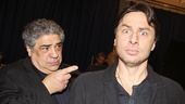Bullets Over Broadway co-stars Vincent Pastore and Zach Braff get silly.