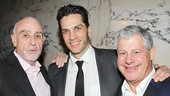 Les Miserables composer and co-book writer Claude-Michel Schonberg and producer Cameron Mackintosh flank Will Swenson.