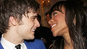 Andy Mientus (Marius) and Nikki M. James (Eponine) share a tender moment after the show.