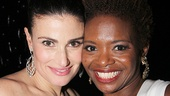 Idina Menzel strikes a pose with her If/Then pal LaChanze.