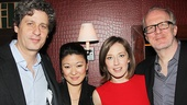 Stage and screen actors Gary Wilmes and Jennifer Lim hang out with Carrie Coon and Tracy Letts after the show.