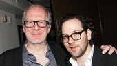 What a night! The Realistic Joneses star Tracy Letts strikes a pose with director Sam Gold.