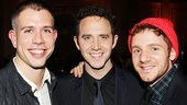 Sons of the Prophet playwright Stephen Karam reunites with his stars Santino Fontana and Chris Perfetti on opening night of Act One.