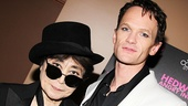 "Neil Patrick Harris, who gives Yoko Ono a shout-out every night in the Hedwig song ""Midnight Radio,"" meets her in person!"