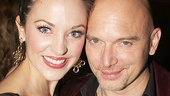 What a night! Laura Osnes and Michael Cerveris take a parting shot.