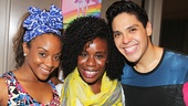 Here Lies Love - Backstage - OP - 7/14 - Uzo Aduba - Angela Polk - George Salazar