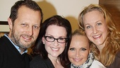 Chenoweth cozied up with director Rob Ashford, Will and Grace star Megan Mullally, and Promises co-star Katie Finneran when the TV star stopped by on April 9.